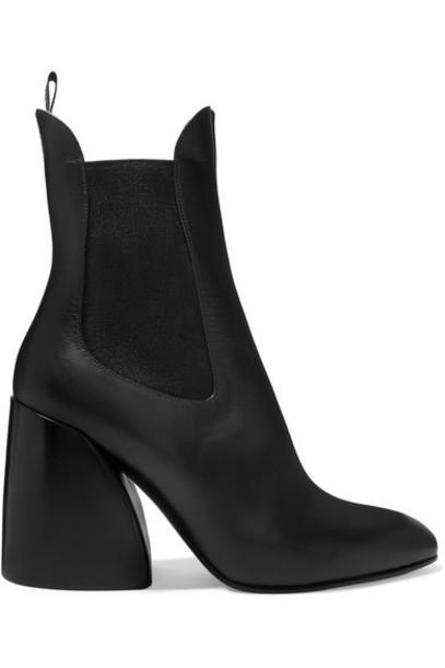 Chloé Chloé - Wave Leather Ankle Boots - Black