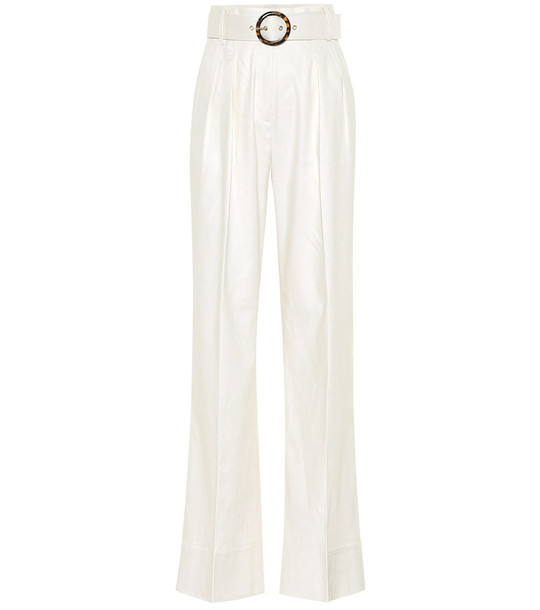 Rebecca Vallance Taylor high-rise wide-leg pants in white