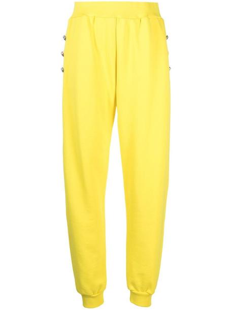 Philipp Plein Iconic Plein jogging trousers in yellow