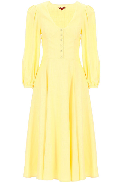 STAUD Birdie Dress in yellow