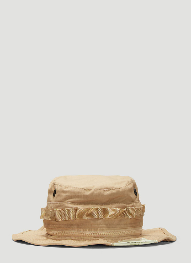 DIVISION (DI)VISION Bucket Hat in Beige size L