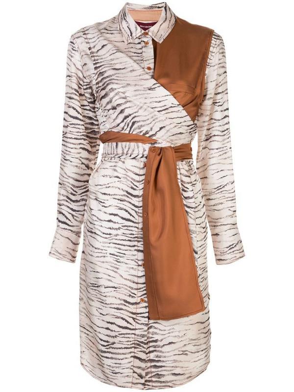 Sies Marjan zebra print shirt dress in neutrals