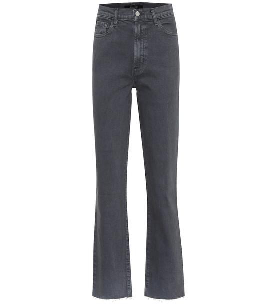 J Brand Jules high-rise straight jeans in black