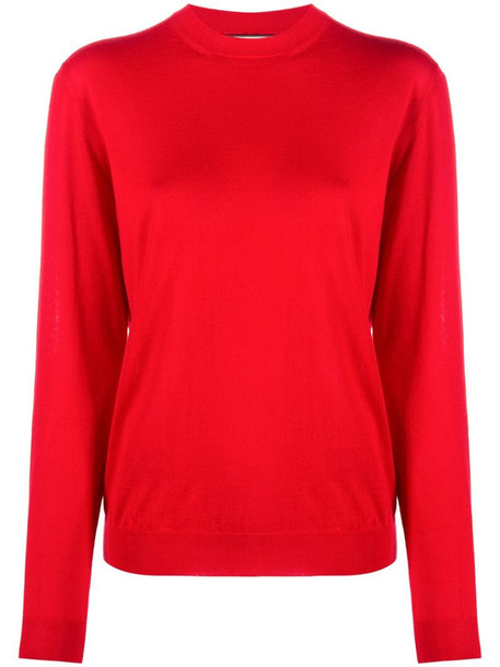 Plan C long-sleeve knit cashmere jumper in red