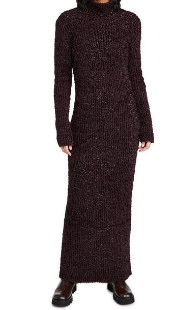 Helmut Lang Turtleneck Dress in crimson