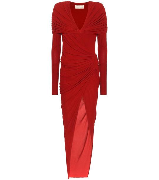 Alexandre Vauthier Asymmetric jersey dress in red