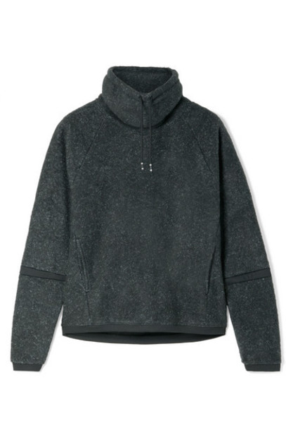 Nike - Therma Mélange Fleece Turtleneck Sweatshirt - Charcoal
