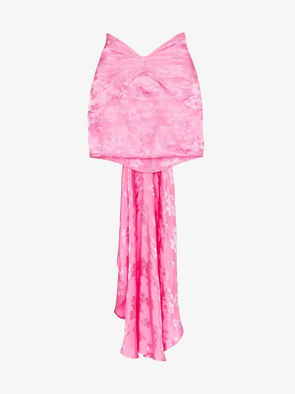 Attico jacquard tail detail mini skirt in pink