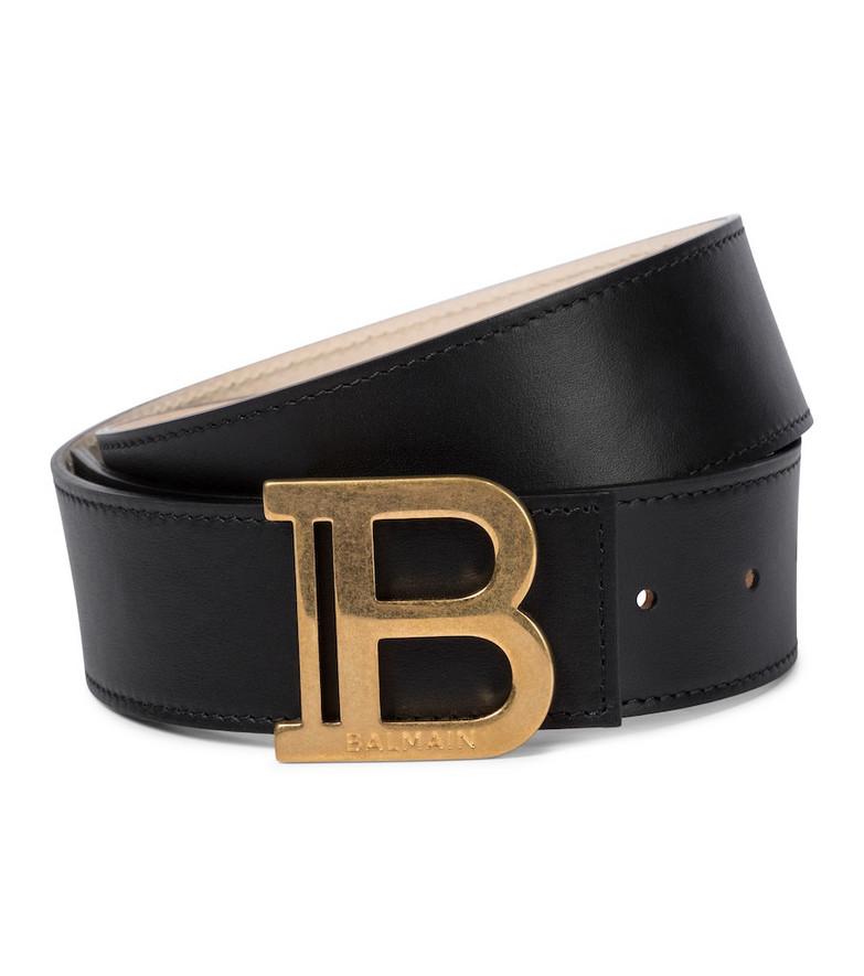 Balmain B-Belt leather belt in black