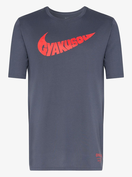 Nike X Gyakusou blue logo print T-shirt