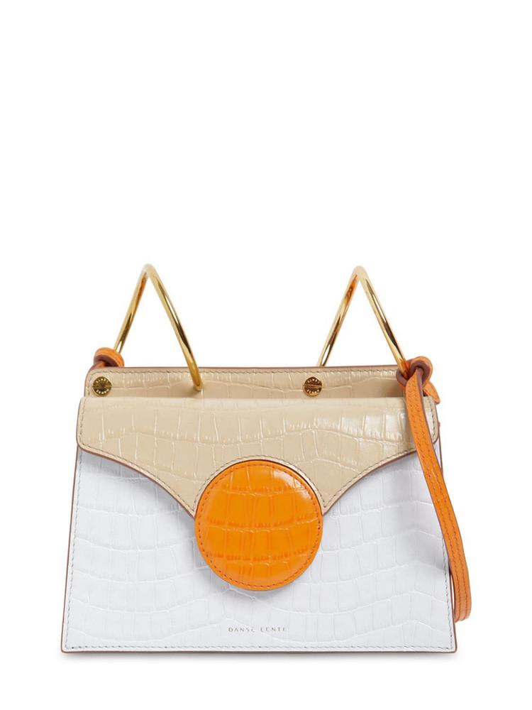 DANSE LENTE Mini Phoebe Embossed Coco Leather Bag in tan