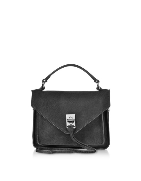 Rebecca Minkoff Black Nubuck Leather Mini Darren Messenger Bag