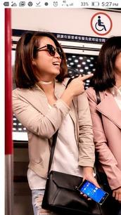 jacket,cream,tan,light brown,beige,cardigan,bomber jacket,khaki bomber jacket,khaki,ph,hkg