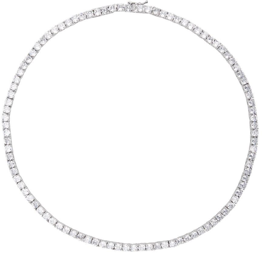 Mounser Silver Laguna Rhinestone Necklace in clear