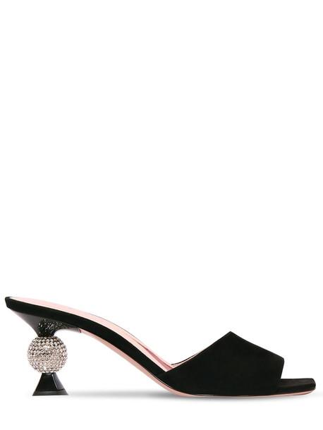 ROGER VIVIER 65mm Vivier Marlene Suede Sandals in black