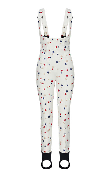 Moncler Genius 3 Moncler Grenoble Genius Printed Straight-Leg Jumpsuit in white