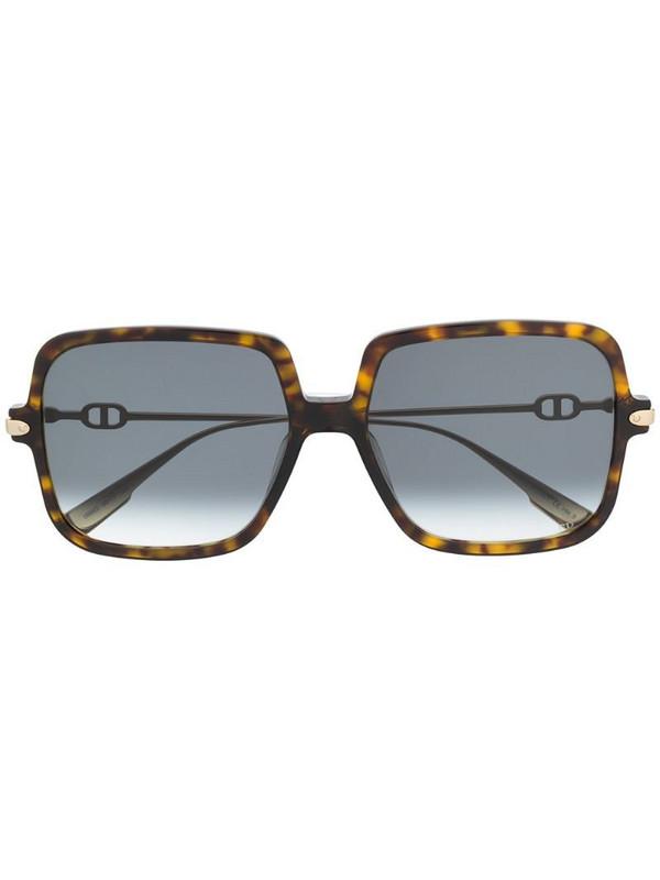 Dior Eyewear square tortoiseshell sunglasses in gold