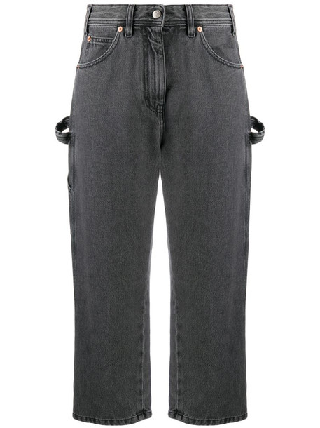 MM6 Maison Margiela high waist cropped jeans in grey