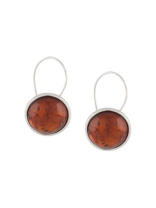 BAR JEWELLERY Arp round earrings in silver