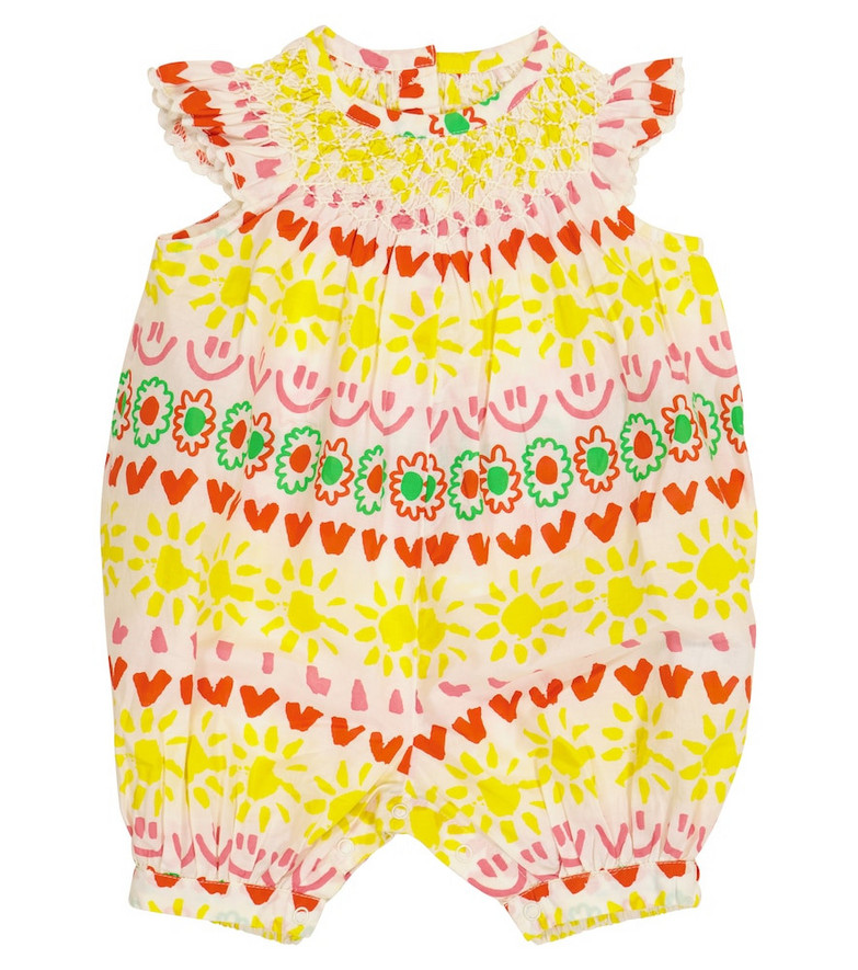 Stella McCartney Kids Baby printed cotton playsuit