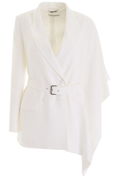 Alberta Ferretti Belted Jacket in white