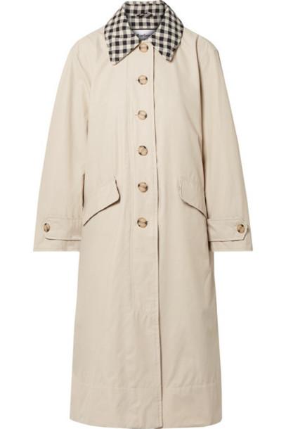 Barbour - Alexachung Glenda Cotton-blend Coat - Off-white