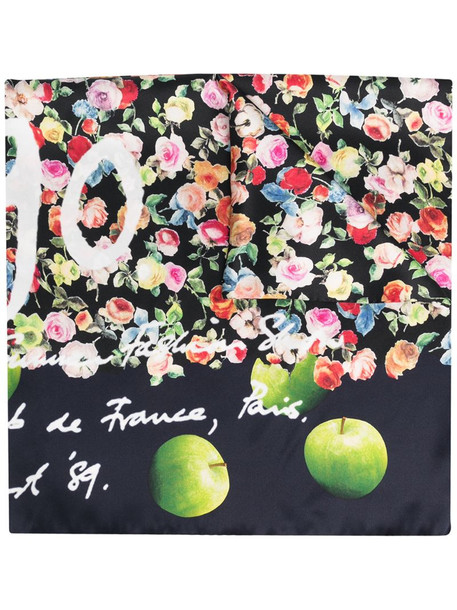 Paul Smith floral-print silk scarf in blue