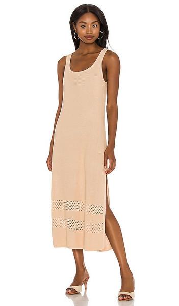 Seafolly Terrain Knit Dress in Nude in sand