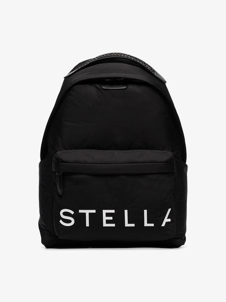 Stella McCartney black logo print backpack