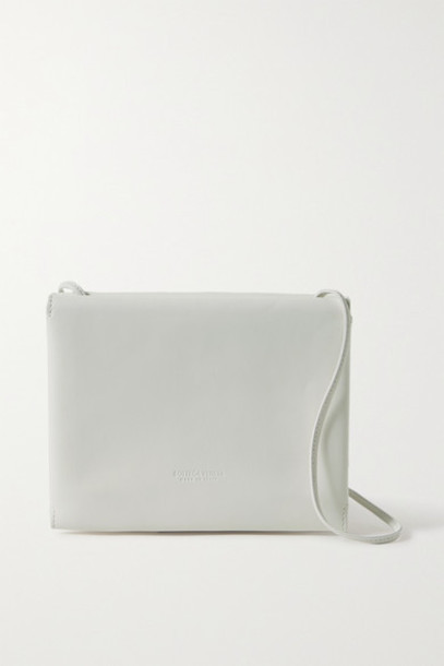 Bottega Veneta - Trio Leather Shoulder Bag - White