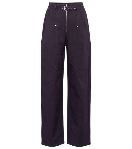 Isabel Marant, Étoile Paggy belted cotton and linen pants in purple