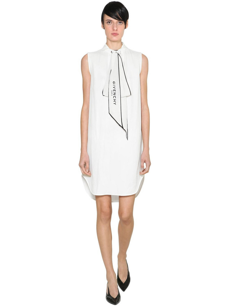 GIVENCHY Crepe De Chine Dress in white