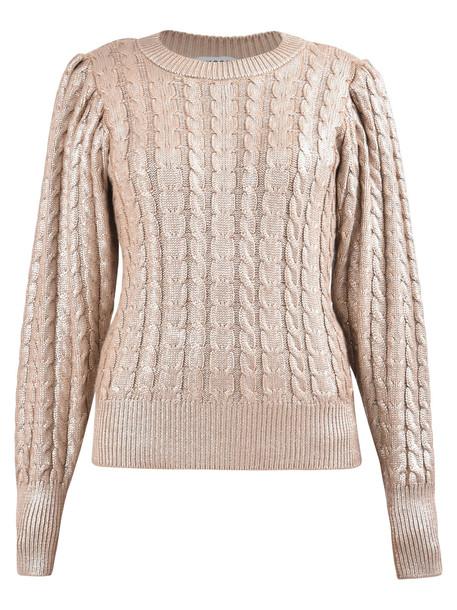 MSGM Lame Sweater in metallic