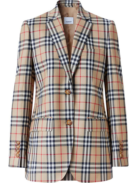 Burberry Vintage Check blazer jacket in neutrals