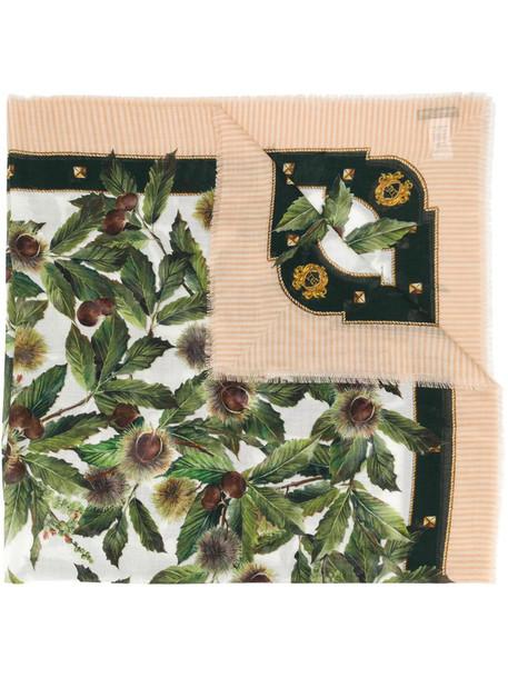 Dolce & Gabbana chestnut print scarf in brown