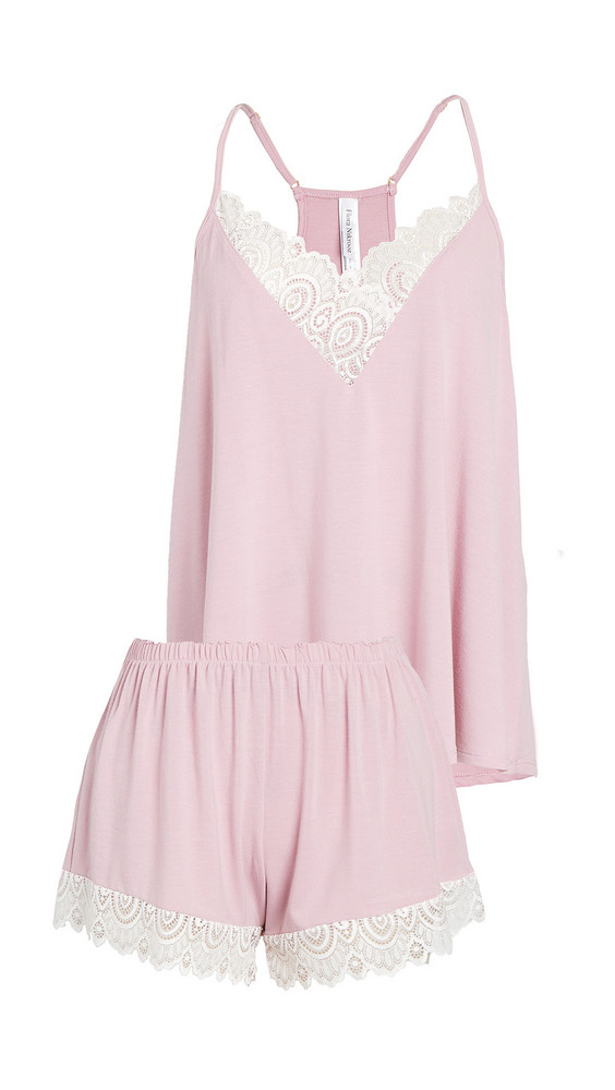 Flora Nikrooz Floretta II Knit Cami Pajama Set with Lace Trim in rose