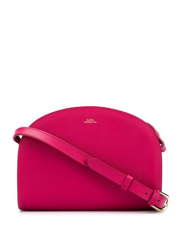 A.P.C. Demi-Lune crossbody bag in pink