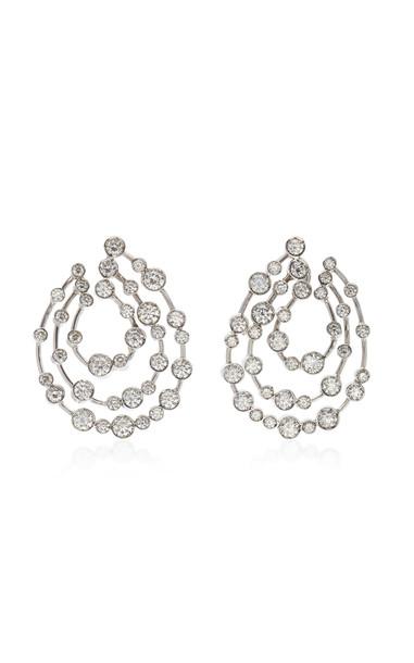 Ruth Grieco 18K White Gold Diamond Earrings