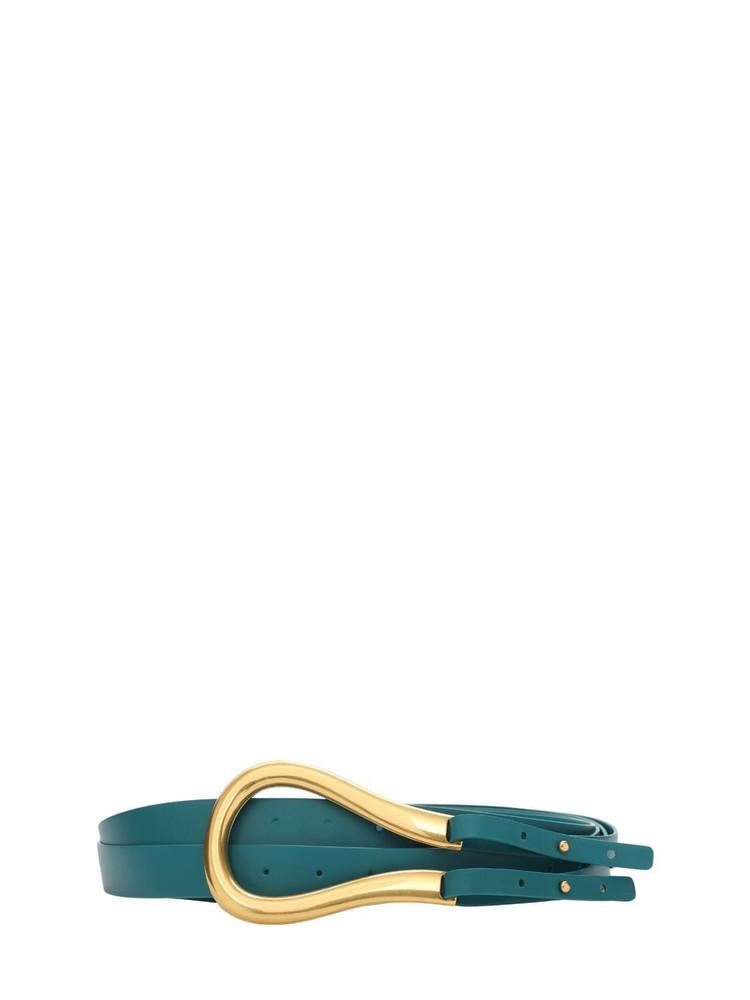 BOTTEGA VENETA 5cm Leather Belt in gold