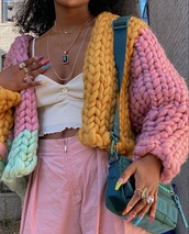 sweater,knit,knitted sweater,colorful