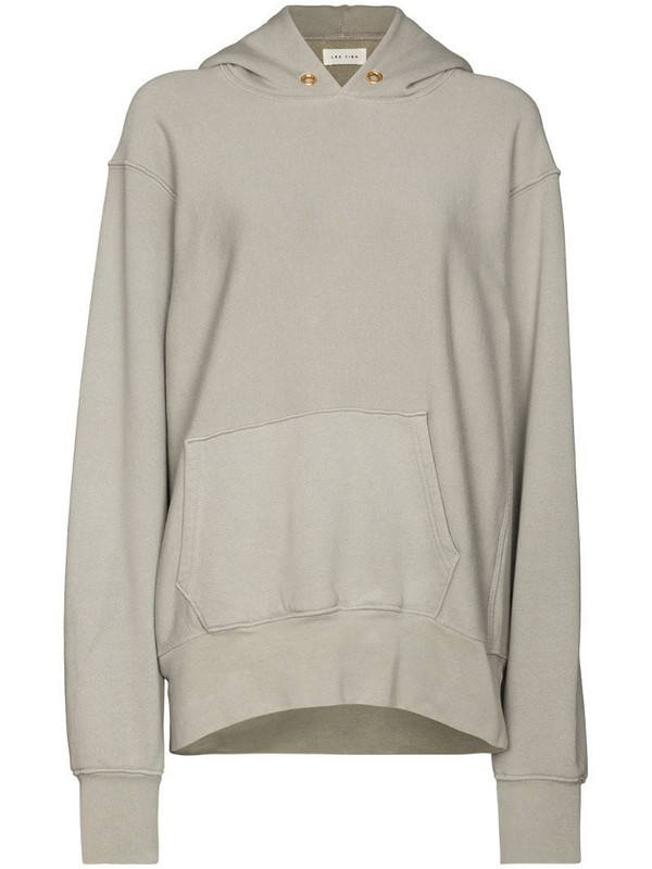 Les Tien oversize cotton hoodie in grey
