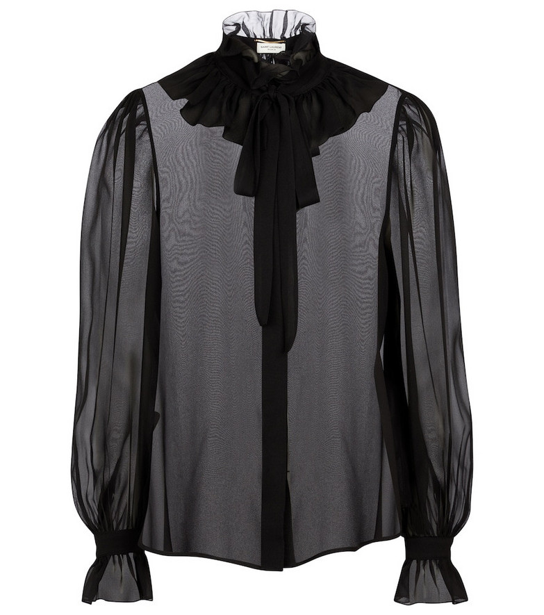Saint Laurent Silk blouse in black
