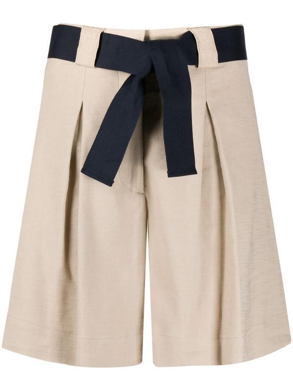 Eleventy belted bermuda shorts in neutrals