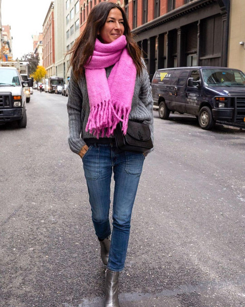 sweater bag scarf