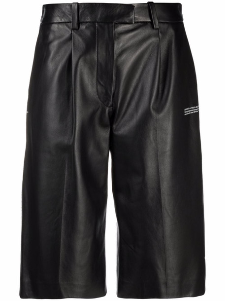 Off-White LEATHER FORMAL SHORTS BLACK NO COLOR