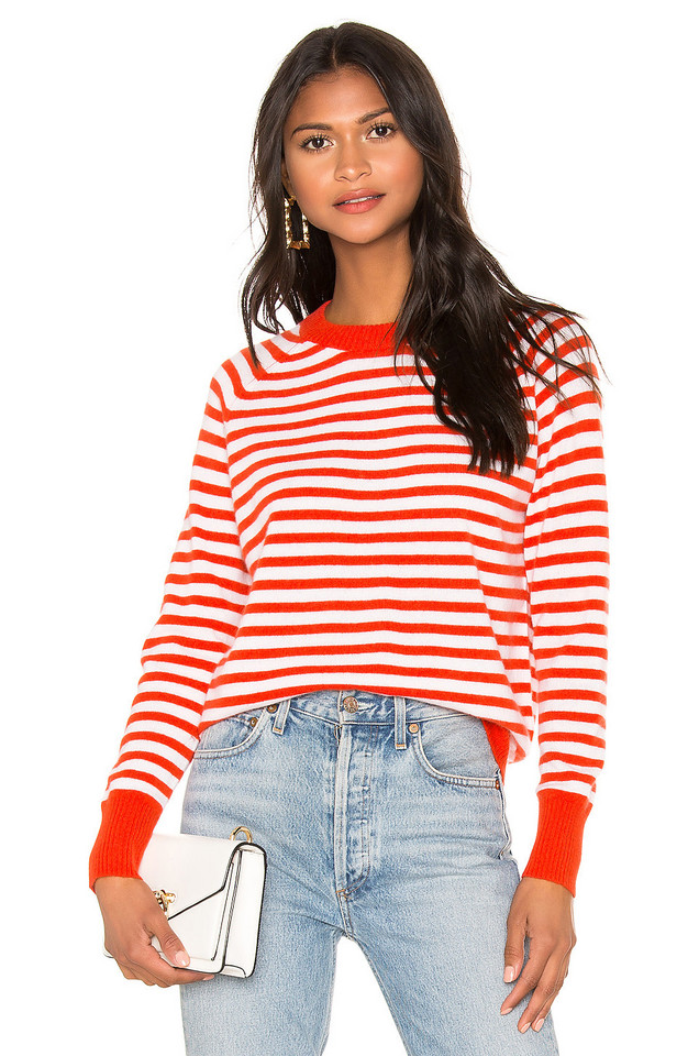 27 miles malibu Gail Sweater in red