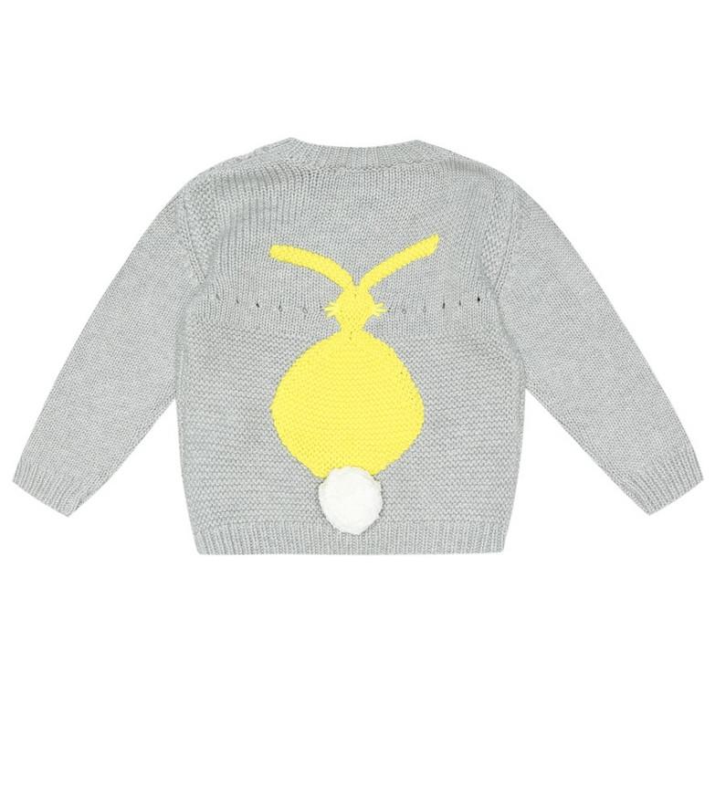 Stella McCartney Kids Cotton and wool sweater in grey