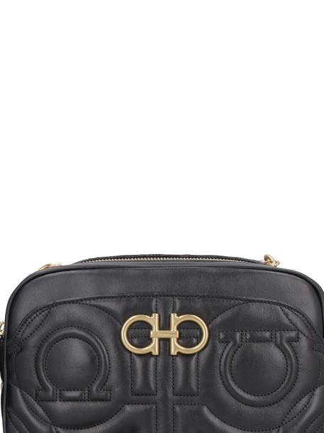Salvatore Ferragamo Quilted Leather Camera Bag in black