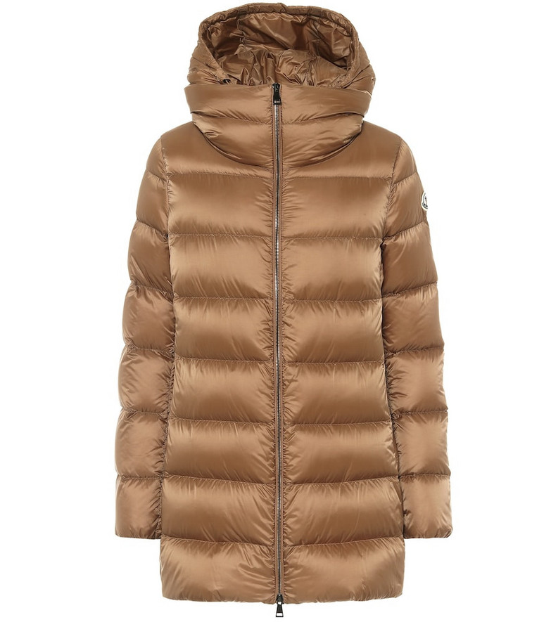 Moncler Ange down coat in brown