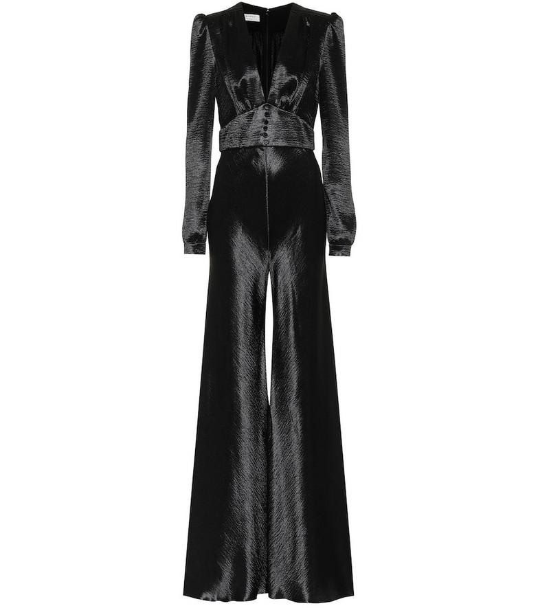 Philosophy Di Lorenzo Serafini Hammered-satin jumpsuit in black